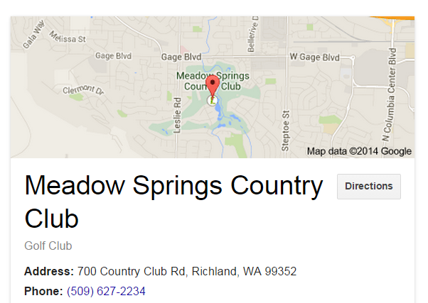Map Link with Directions to Meadow Springs Country Club